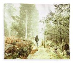 Mysterious Trail Fleece Blanket