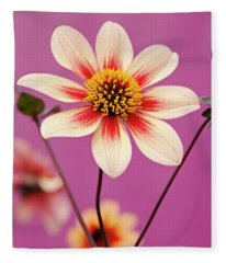 Mystic Dahlia Fleece Blanket