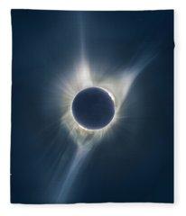 Mystic Eclipse  Fleece Blanket