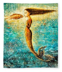 Mystic Mermaid Iv Fleece Blanket