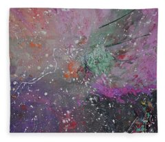 Fleece Blanket featuring the painting Mystical Dance by Michael Lucarelli