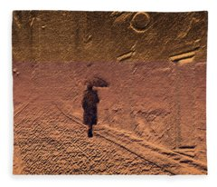 Mystical Journey Of The Shadow Of Your Soul In Extraneous World Fleece Blanket