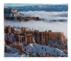 Mystical Morning At Bryce Canyon, Utah Fleece Blanket