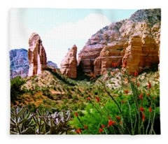 Mystical Red Rocks - Sedona, Arizona Fleece Blanket