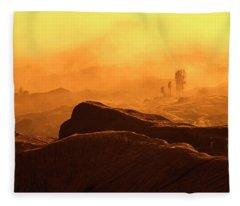mystical view from Mt bromo Fleece Blanket