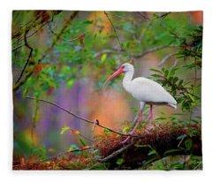 Mystical White Ibis Fleece Blanket