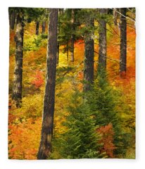 N W Autumn Fleece Blanket
