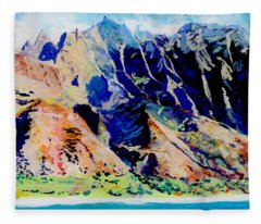 Na Pali Coast Fleece Blanket