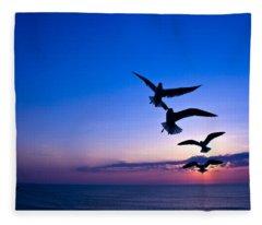 Nags Head Sunrise Fleece Blanket