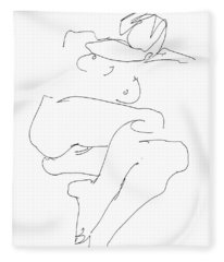 Naked-female-art-21 Fleece Blanket