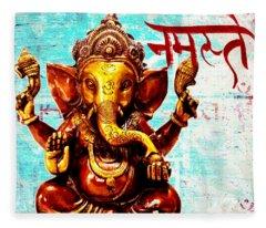 Namaste Bhagavaan Ganesh Fleece Blanket