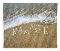 Namaste On The Beach Fleece Blanket