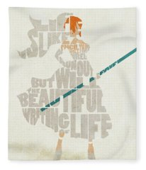 Nami Typography Art Fleece Blanket