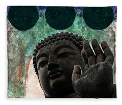 Namo Buddhaya Fleece Blanket