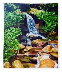 Nantahala Waterfall Fleece Blanket
