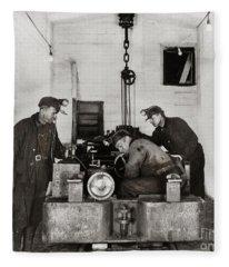 Nanticoke Pa Buttonwood Colliery Inman Shaft Glen Alden Coal Underground Motor Pit 1945 Fleece Blanket