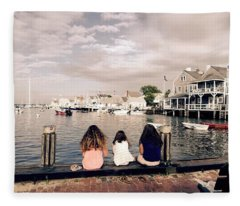 Nantucket Island Fleece Blanket