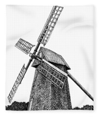 Nantucket Windmill Number One Fleece Blanket