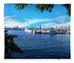 Naples Harbor Series 4054 Fleece Blanket
