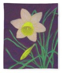 Narcissus Hello Fleece Blanket