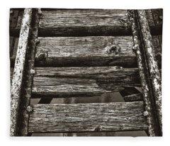 Narrow Gauge Tracks #photography #art #trains Fleece Blanket