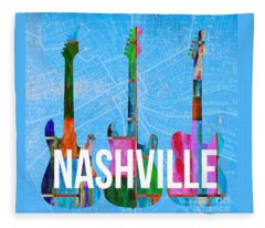 Nashville Guitars Fleece Blanket