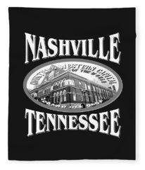 Nashville Tennessee Design Fleece Blanket