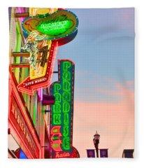 Nashville's Neon Signs Fleece Blanket