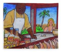 Nassau Conch Seller Fleece Blanket