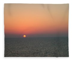 Nassau Sunset Fleece Blanket