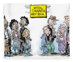 National Conversation About Race Fleece Blanket