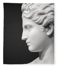 National Portrait Gallery Statue Profile Fleece Blanket
