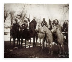 Native American Chiefs - To License For Professional Use Visit Granger.com Fleece Blanket