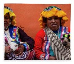 Native Dress Fleece Blanket