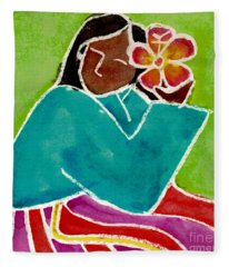 Native Girl Fleece Blanket