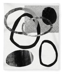Natural Balance 2- Abstract Art By Linda Woods Fleece Blanket