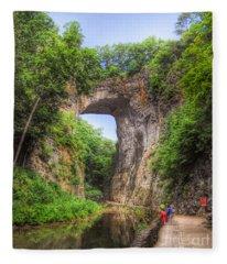 Natural Bridge - Virginia Landmark Fleece Blanket