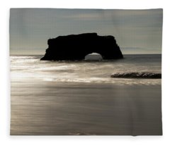 Natural Bridges State Beach Water Fleece Blanket