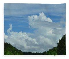Natural Clouds Fleece Blanket