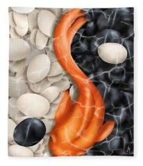 Natural Equilibrium Yin Yang Fleece Blanket