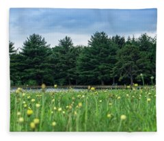 Evergreen Lake - A Groundhog View Fleece Blanket