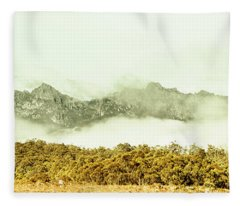 Natural Mountain Beauty Fleece Blanket