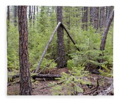 Natural Peace In The Woods Fleece Blanket