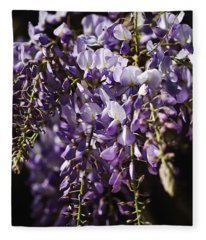 Natural Wisteria Bouquet Fleece Blanket