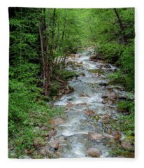 Naturally Pure Stream Backroad Discovery Fleece Blanket