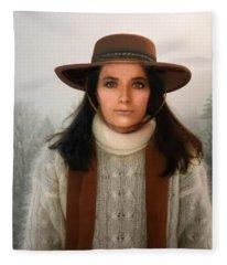 Nature Harmony Self Portrait  Fleece Blanket