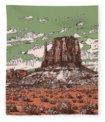 Nature Monument 2 Fleece Blanket