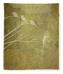 Nature Study In Gold  Fleece Blanket