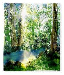 Nature Trail Creek Ipad Version  Fleece Blanket