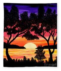 Nature's Gift - Ocean Sunset Fleece Blanket